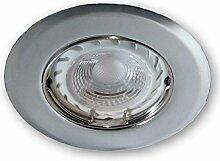 LED Einbaustrahler Dimmbar GU10 230 V SSD005 chrom