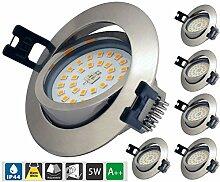LED Einbaustrahler Dimmbar ip44 ultra flach, 6 *
