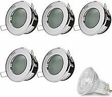 LED Einbaustrahler Dimmbar VENEDIG (Chrom) Rund