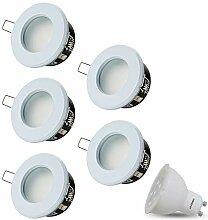LED Einbaustrahler Dimmbar VENEDIG (Weiss) Rund