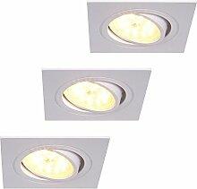 LED-Einbaustrahler eckig 3Stck. | Einbauleuchte