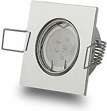 LED Einbaustrahler eckig 3W flach 12V MR11 MR16