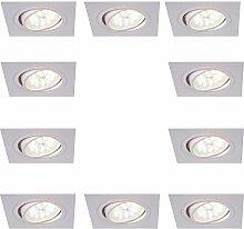 LED-Einbaustrahler eckig | Einbauleuchte weiß