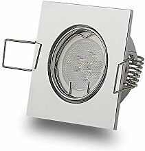 LED Einbaustrahler eckig schwenkbar 3W flach 12V