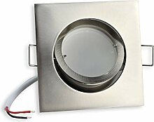 LED Einbaustrahler eckig - silber 5 Watt warmweiß