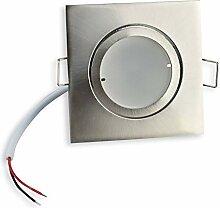 LED Einbaustrahler eckig - silber 7 Watt warmweiß