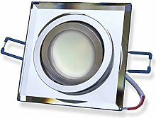 LED Einbaustrahler eckig - transparent 5W