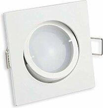 LED Einbaustrahler eckig - weiß 7 Watt