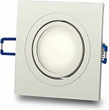 LED Einbaustrahler eckig weiß neutralweiß 7,5