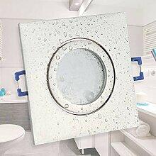 LED Einbaustrahler edelstahl - eckig kaltweiß 5