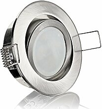 LED Einbaustrahler Edelstahl gebürstet schwenkbar