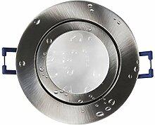 LED Einbaustrahler edelstahl - rund kaltweiß 5