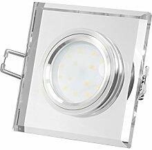 LED-Einbaustrahler extrem flach (15mm) aus klarem