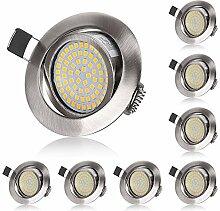 LED Einbaustrahler Flach 230V 5W LED Spots