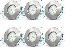 LED Einbaustrahler Flach 230V IP44 Bad