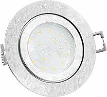LED Einbaustrahler flach (30mm) RW-2 rund Alu