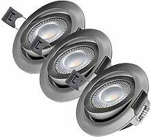 LED Einbaustrahler flach Set 230V Schwenkbar 3 x