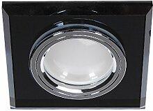 LED Einbaustrahler Glas Schwarz 3-fach dimmbar |