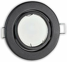 LED Einbaustrahler graphit - rund 5W kaltweiß