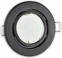 LED Einbaustrahler graphit - rund 5W neutralweiß
