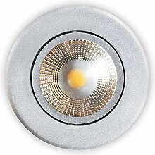 LED Einbaustrahler Grau Schwenkbar Inkl. 5W LED