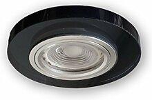 LED Einbaustrahler GU10 230 V Glas Spot S1370BK -