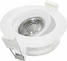 LED Einbaustrahler in Weiß 7W 525lm