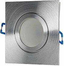 LED Einbaustrahler IP44 Silber Feinschliff 7 Watt
