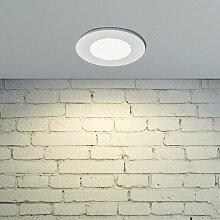 LED-Einbaustrahler Kamilla, weiß, IP65, 7W