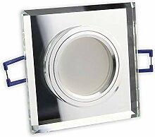 LED Einbaustrahler klar - eckig 5 Watt warmweiß