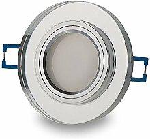 LED Einbaustrahler klar - rund 5 Watt warmweiß