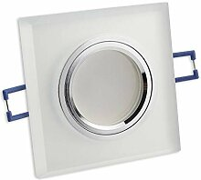 LED Einbaustrahler matt - eckig aus Glas 5 Watt