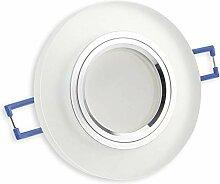 LED Einbaustrahler matt - rund aus Glas 7 Watt