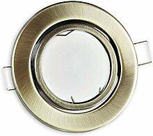 LED Einbaustrahler messing – rund 5 Watt
