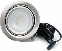 LED Einbaustrahler Möbelleuchte flach 2,7W LED