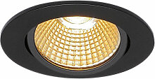 LED Einbaustrahler New Tria in Schwarz 11W 800lm