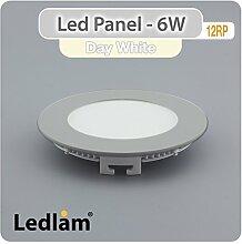 LED Einbaustrahler Panel silber rund Ø 12cm 6