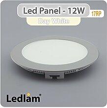 LED Einbaustrahler Panel silber rund Ø 17cm 12