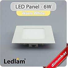 LED Einbaustrahler Panel weiss quadratisch 12 x