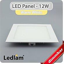 LED Einbaustrahler Panel weiss quadratisch 17 x