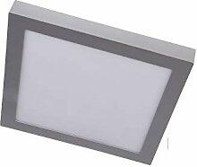 LED-Einbaustrahler, quadratisch, silberfarben,