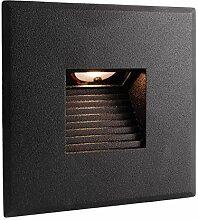 LED Einbaustrahler quadratisch Wand 2.2W warmes