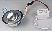 LED Einbaustrahler RD-1 warmweiß rund 1W 80lm
