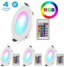 LED Einbaustrahler RGB Schwenkbar Ultra flach 5W