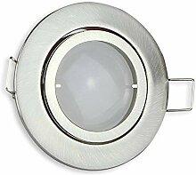 LED Einbaustrahler rund - silber 5 Watt warmweiß