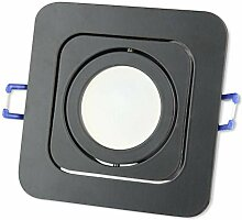 LED Einbaustrahler schwarz eckig 5 Watt warmweiß