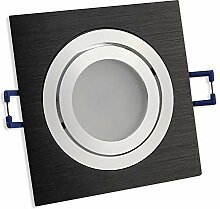 LED Einbaustrahler schwarz - eckig 6,5 Watt