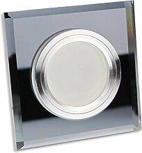 LED Einbaustrahler schwarz - eckig aus Glas 7 Watt