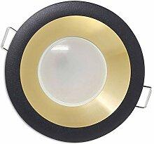 LED Einbaustrahler schwarz/gold rund neutralweiß