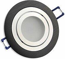 LED Einbaustrahler schwarz - rund 5 Watt
